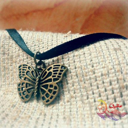 butterfly necklace هاندميد