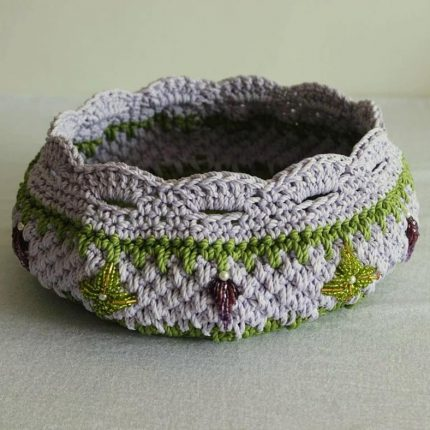 باسكت كروشيه crochet basket هاندميد