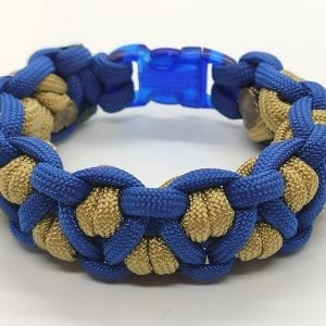 Paracord Golden Blue Bracelet اسورة هاندميد