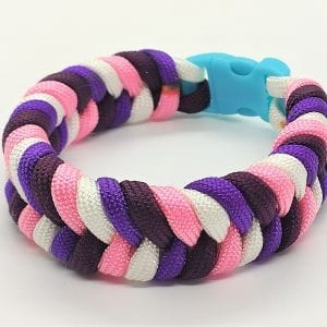 Paracord Colored Fishtail Bracelet II اسورة هاندميد