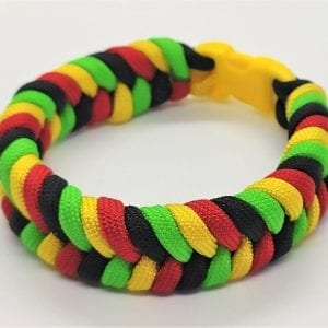 Paracord Colored Fishtail Bracelet I اسورة هاندميد